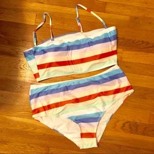 SHEIN Swim - Striped Plus Bikini
